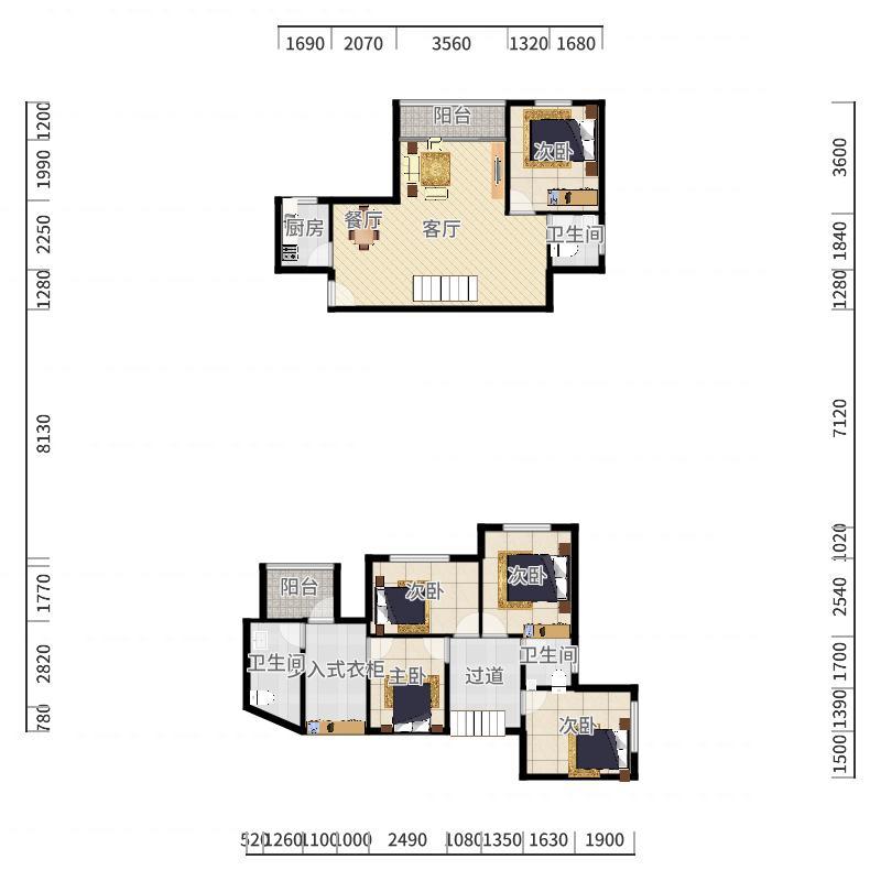 百合盛世10栋22G户型图