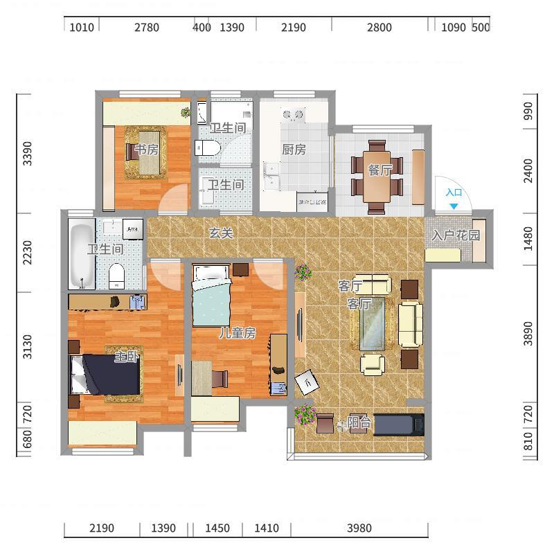 家的样子户型图
