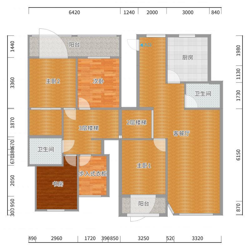 上海之春5-2-101户型图