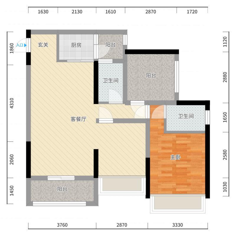 香山公馆户型图