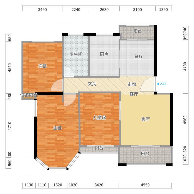 南郊别墅户型图