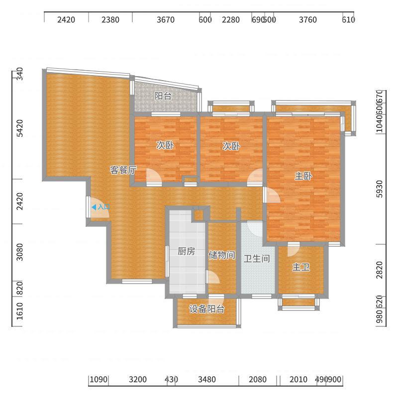 东绣路266弄16号602室-副本-副本-副本-副本户型图