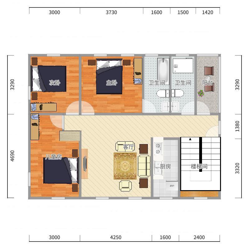 二楼(5)户型图