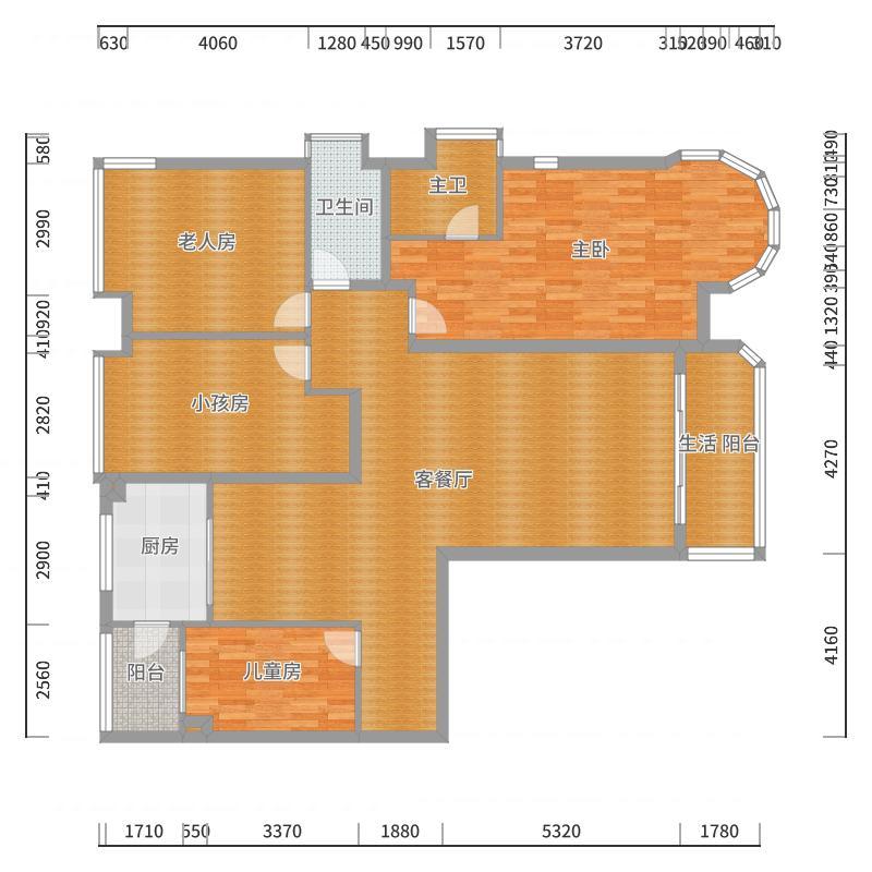 合生国际4期M9栋1003-副本户型图