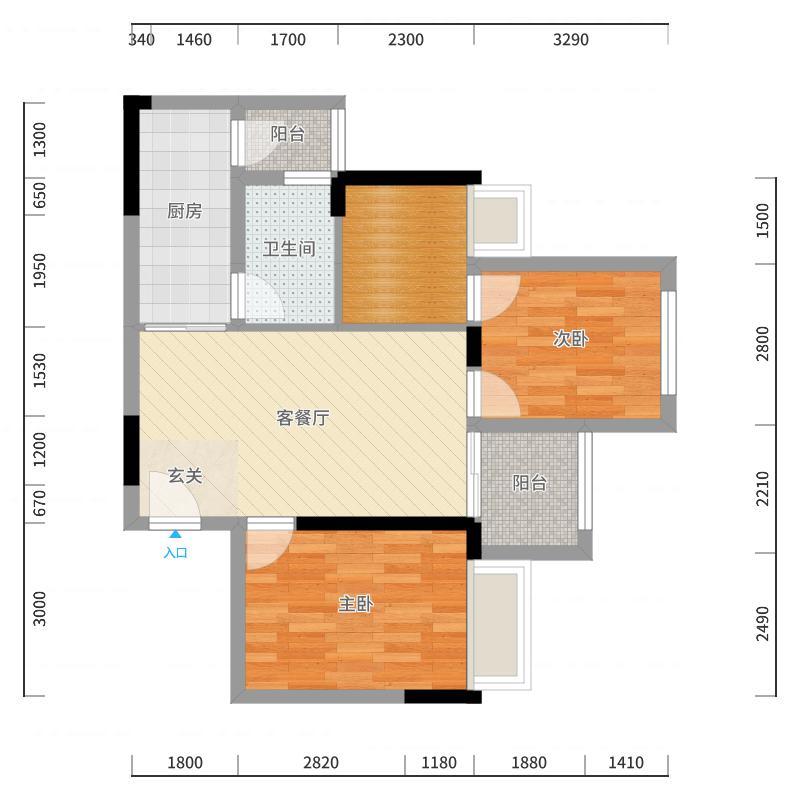重庆_九龙花园_2017-10-20-1206户型图