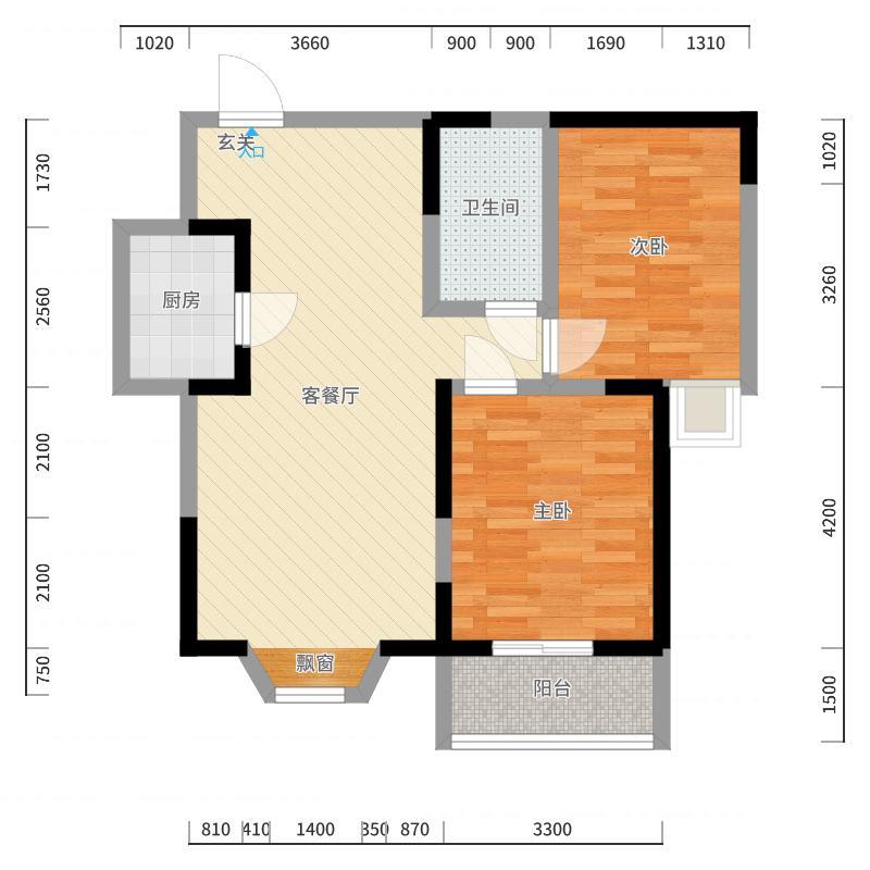 丽湖豪苑-16户型图