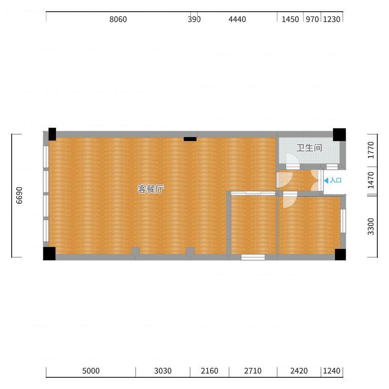 别墅一层Drawing1-副本-副本户型图