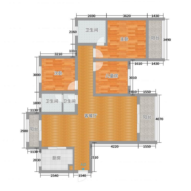 建业6号楼东户·户型图