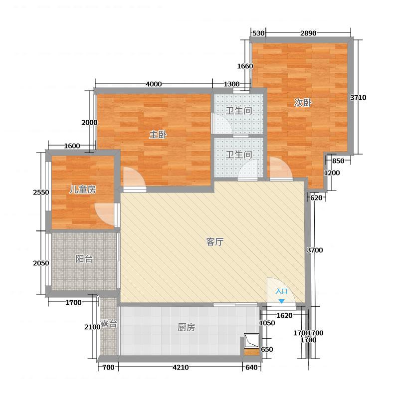 重庆大坪江屿朗庭B3-6栋28-8户型图