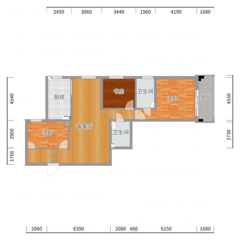 4号楼A2户型-1019-无垭口户型图