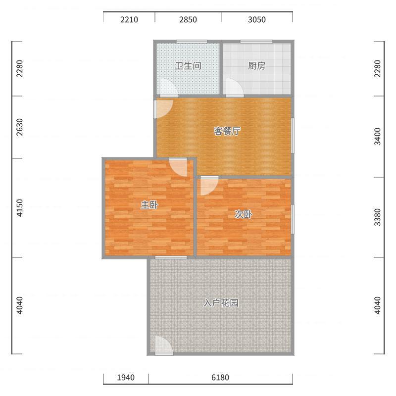 桃苑新村一楼带院子户型图