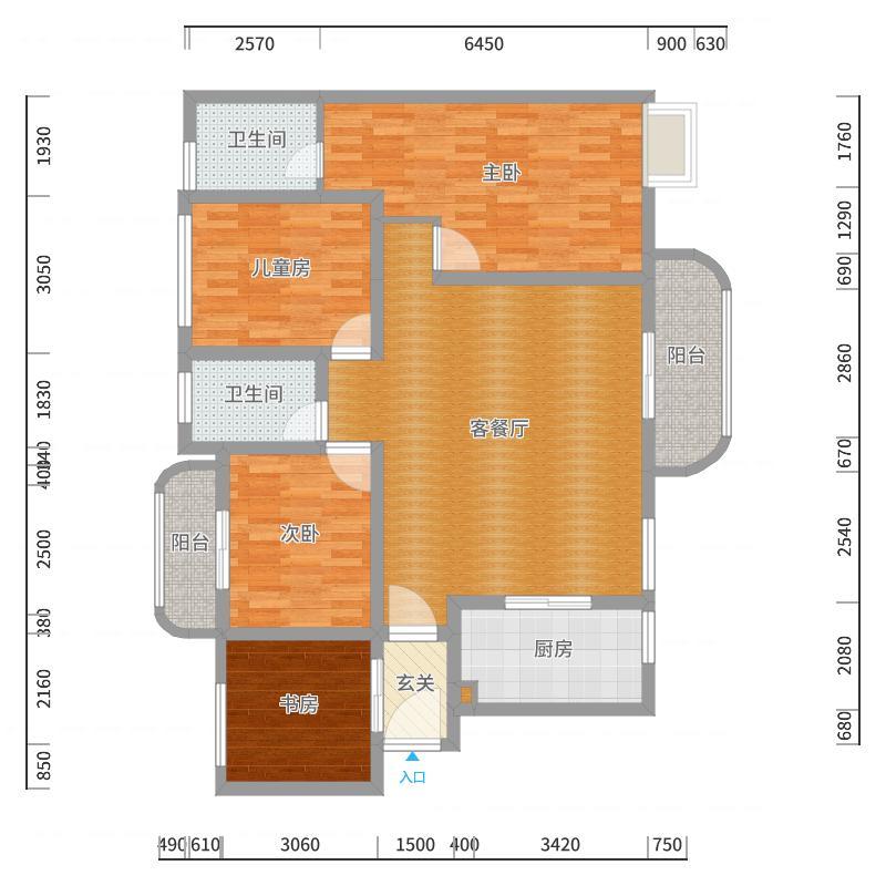 润和紫郡二期1栋1单元2604(-副本-副本户型图