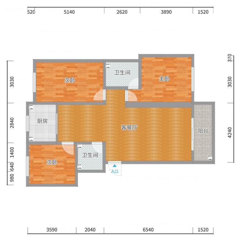 宏艺2号楼户型图