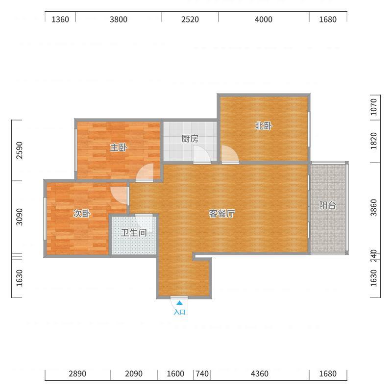 新华府11号楼1单701_2017-10-20-2144户型图