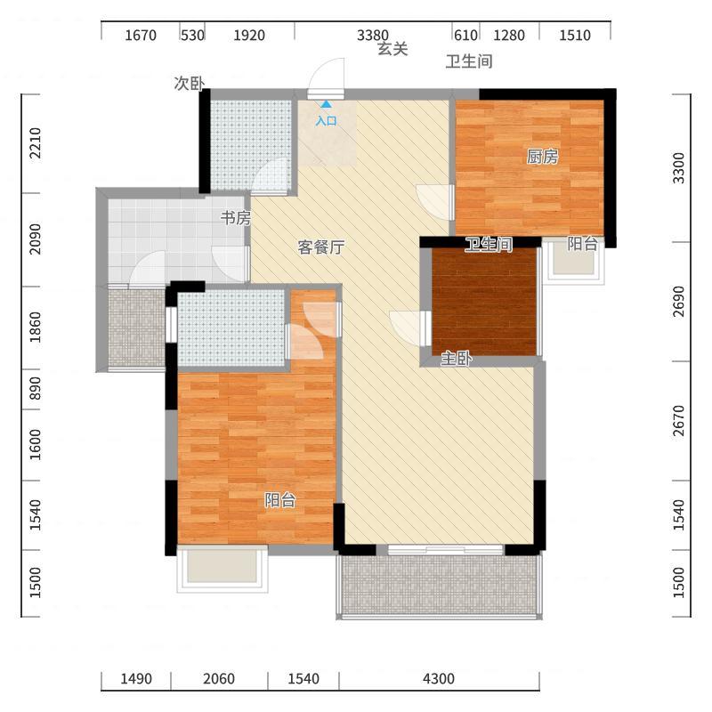 万和国际2#楼02户型-副本户型图