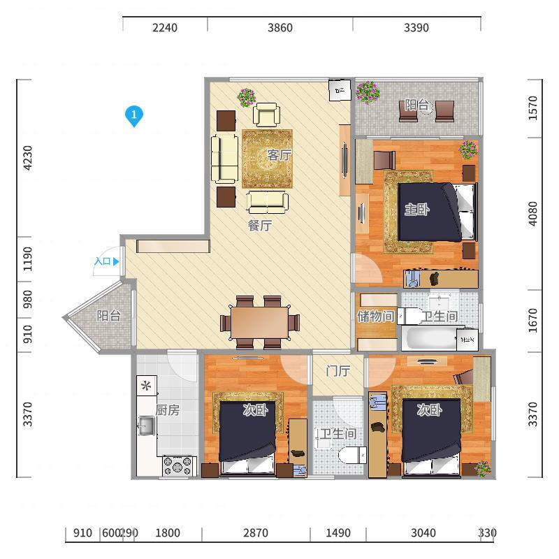南馨公寓户型图