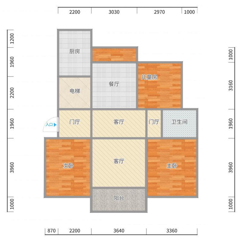 房间构造户型图