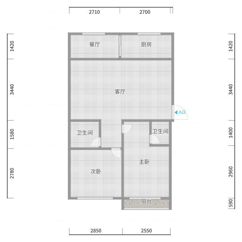 安宁佳苑10号楼5单元601户型图