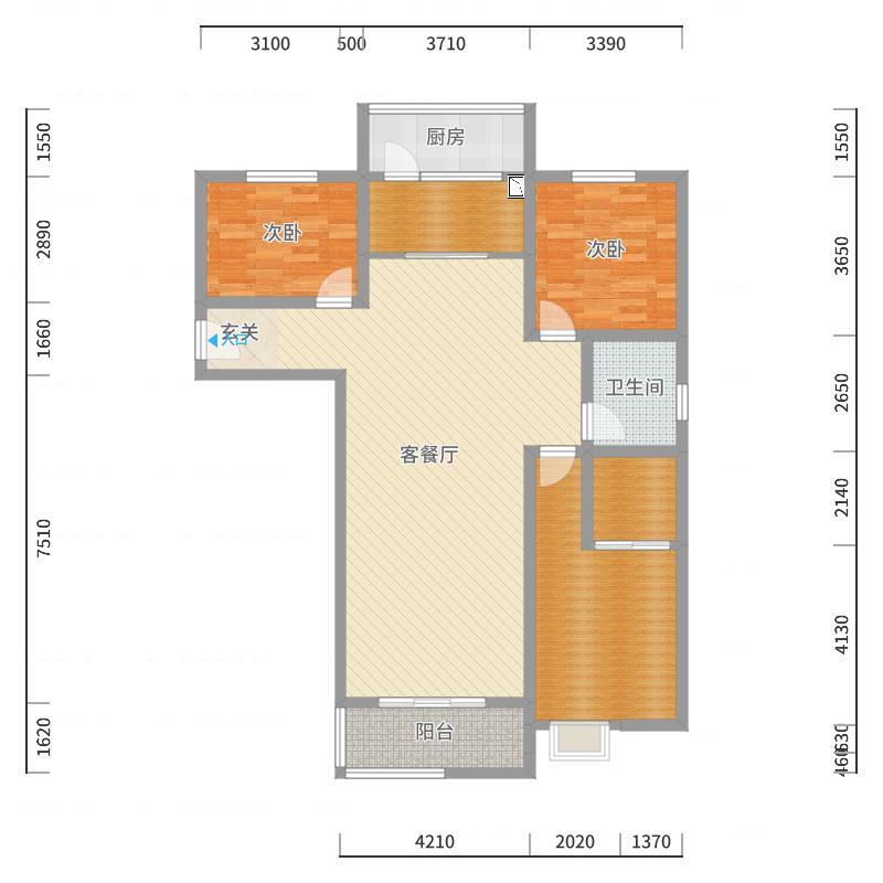 滨州_望湖新高度_2017-09-11-1511-副本-副本户型图
