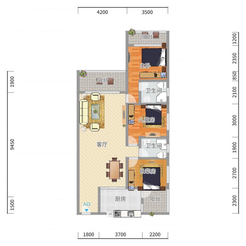 锦绣银湾3栋户型图