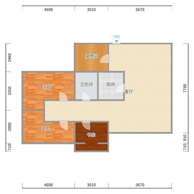 观园路统建房B户型户型图