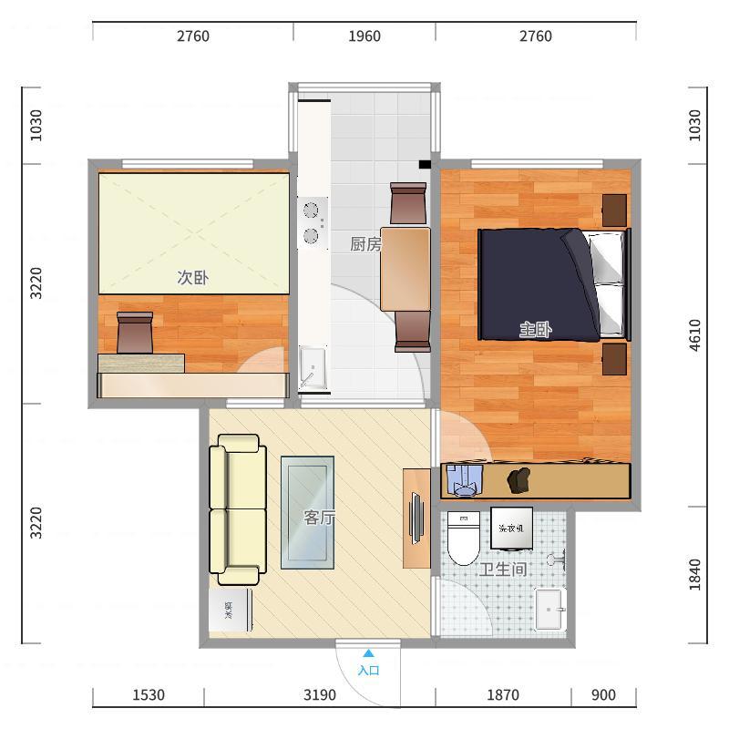 鑫海家园1号楼1单元303室户型图