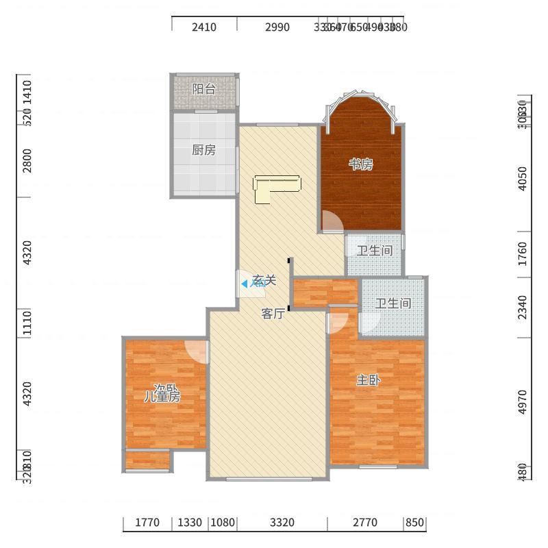 建邦华庭152m2-副本户型图