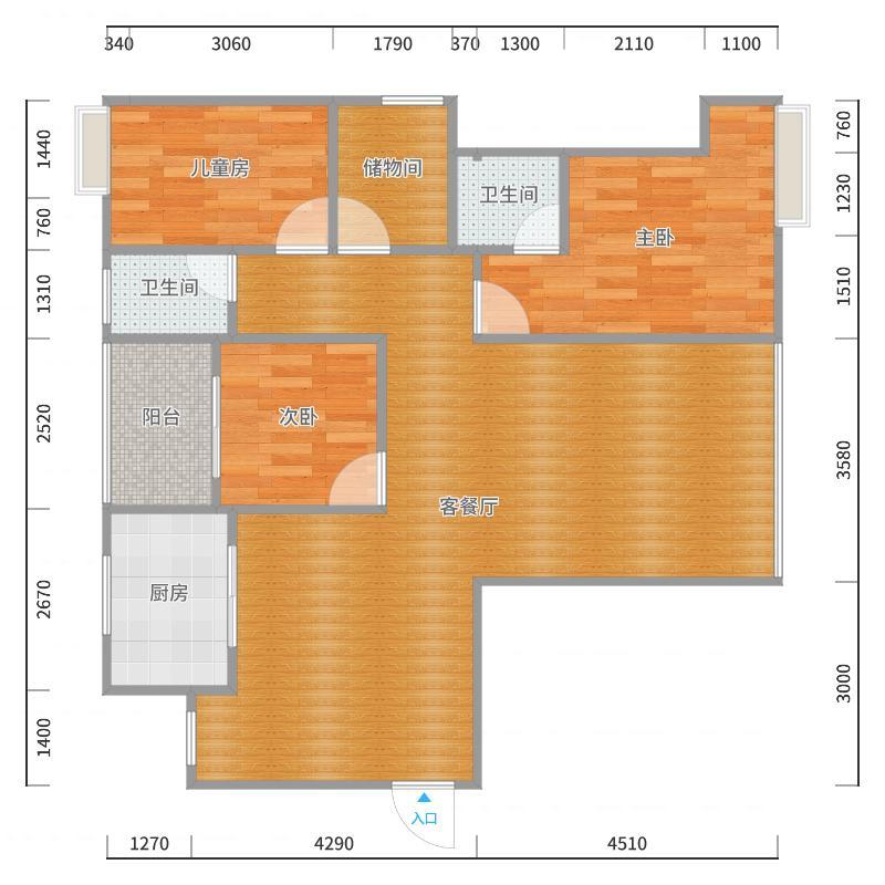 四室两厅户型图
