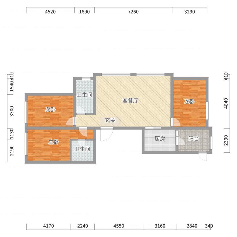 哈尔滨_辰能溪树庭院(南区)_2017-10-21-1210-副本户型图