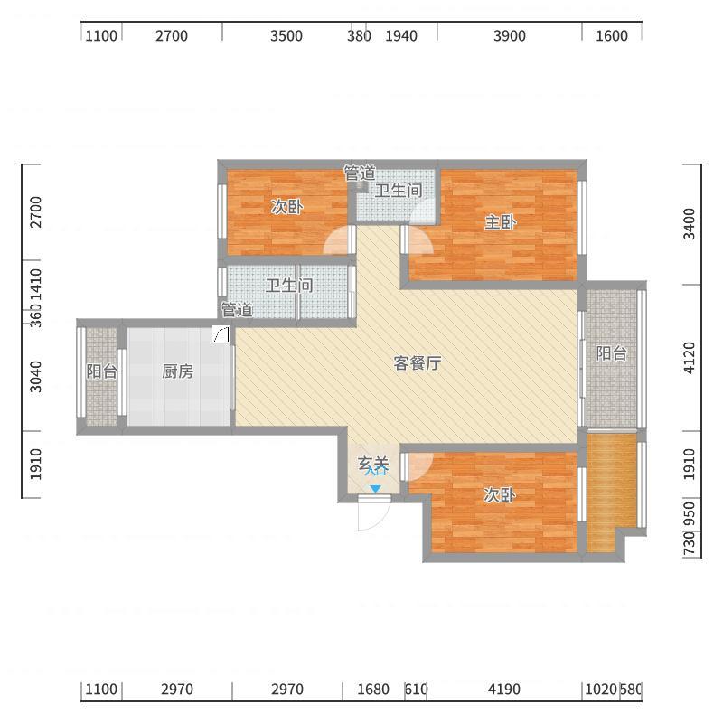 /市直三区150(欧式风格)台户型图