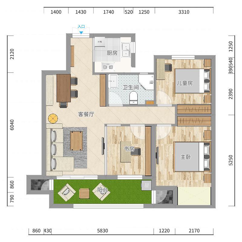宣城富华社区-副本户型图