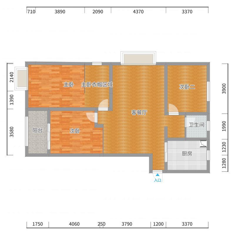 金海苑120-2户型图