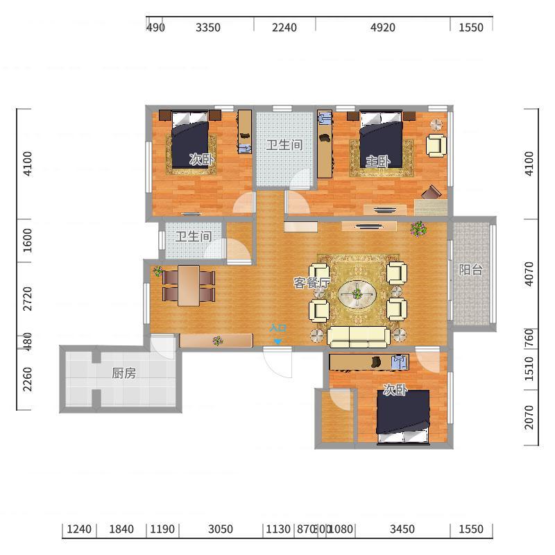 怡水公馆3-户型图