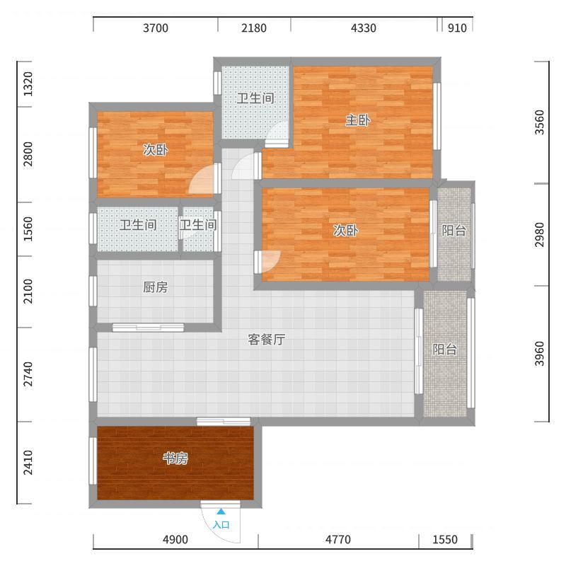 蓝泊湾2-2-2701叶总户型图