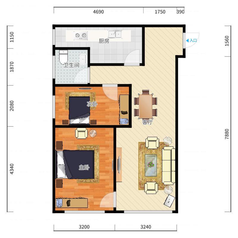 金德园1-2502户型图