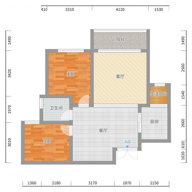 新蒲D7-12户型图
