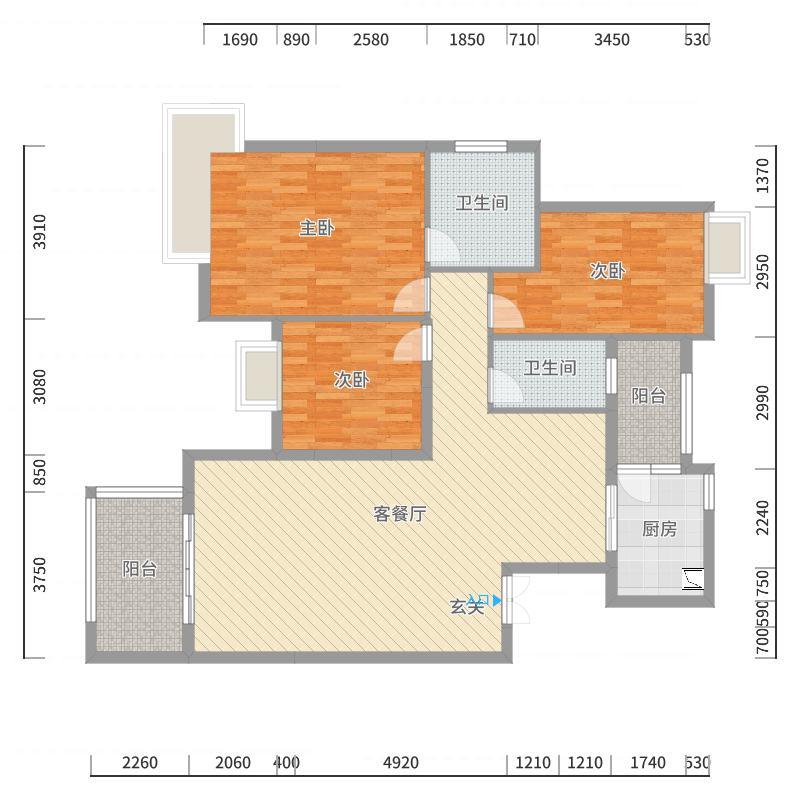 南华时代城户型图