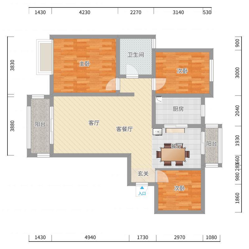六安_湖公馆_2017-10-21-2023户型图