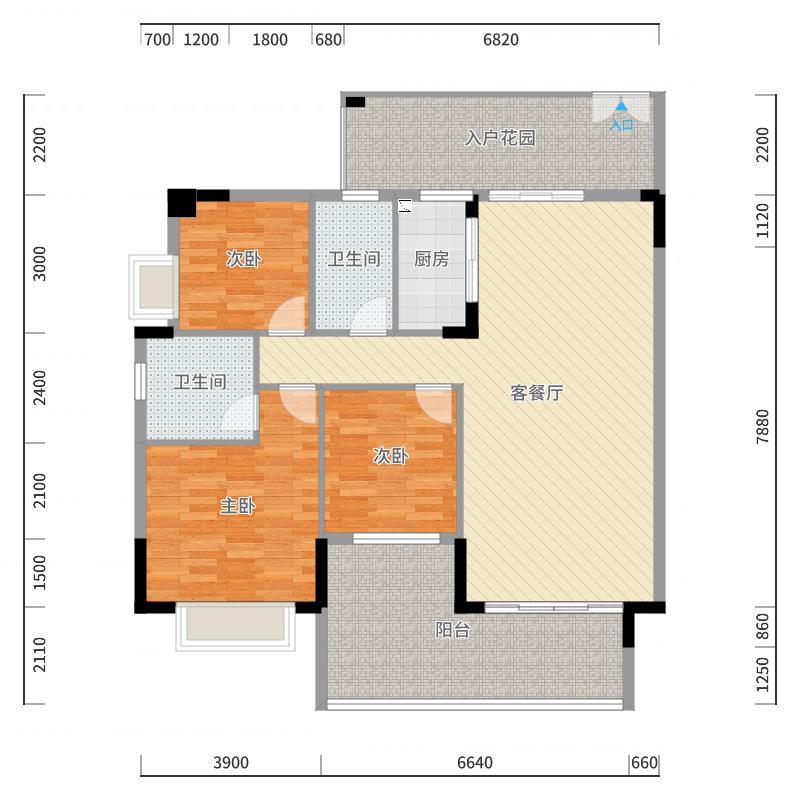 东城艺墅户型图