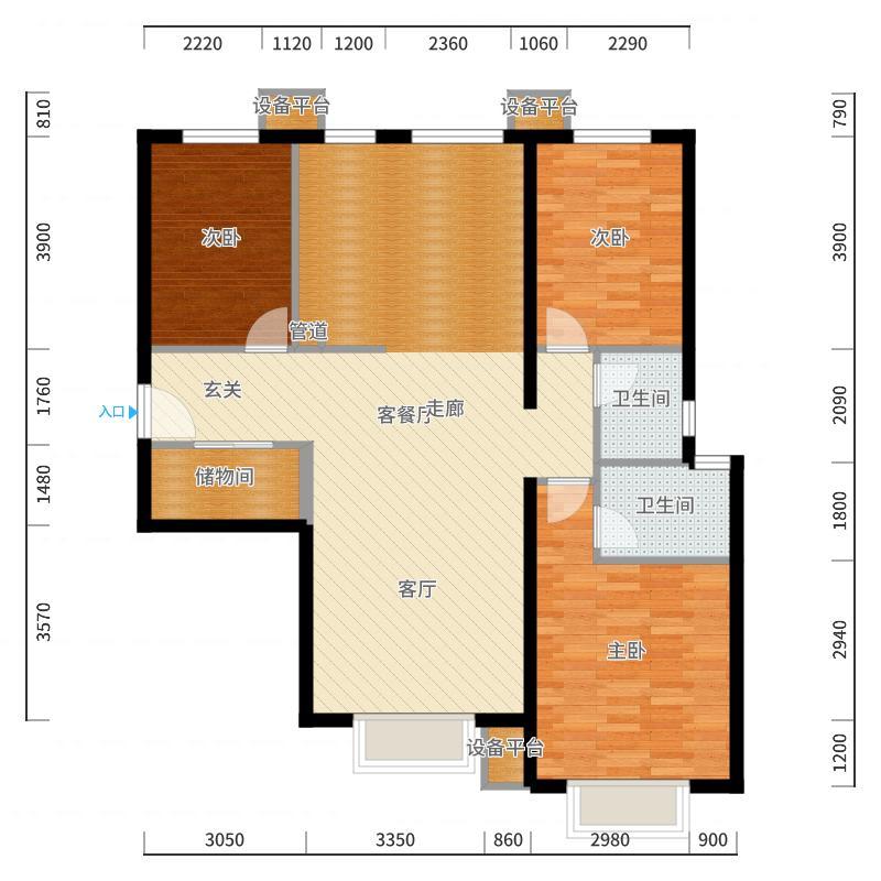 包头_蓝泽・大金城_2017-10-21-2001户型图