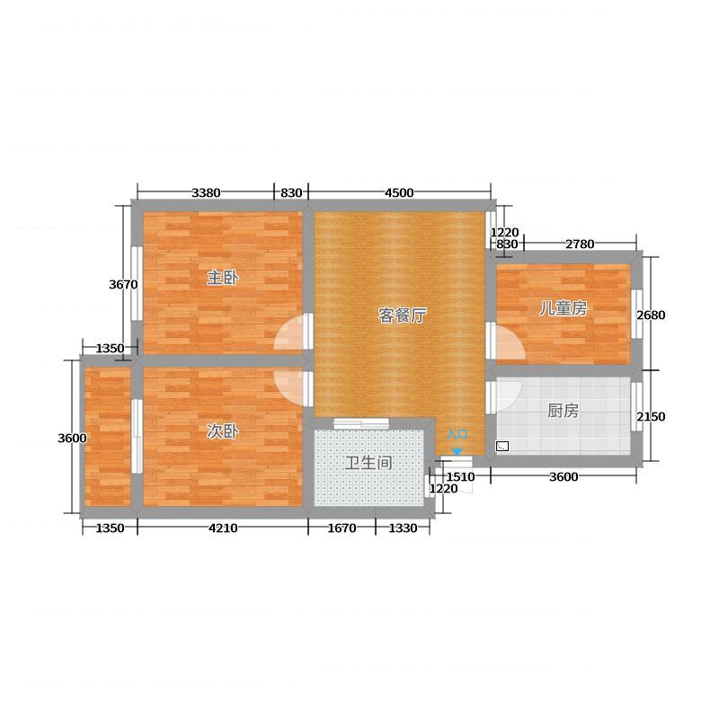 汇林阁西区11#406李女士(1户型图