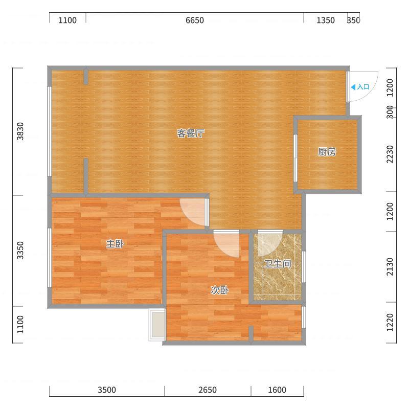 唐人4-2-1803户型图