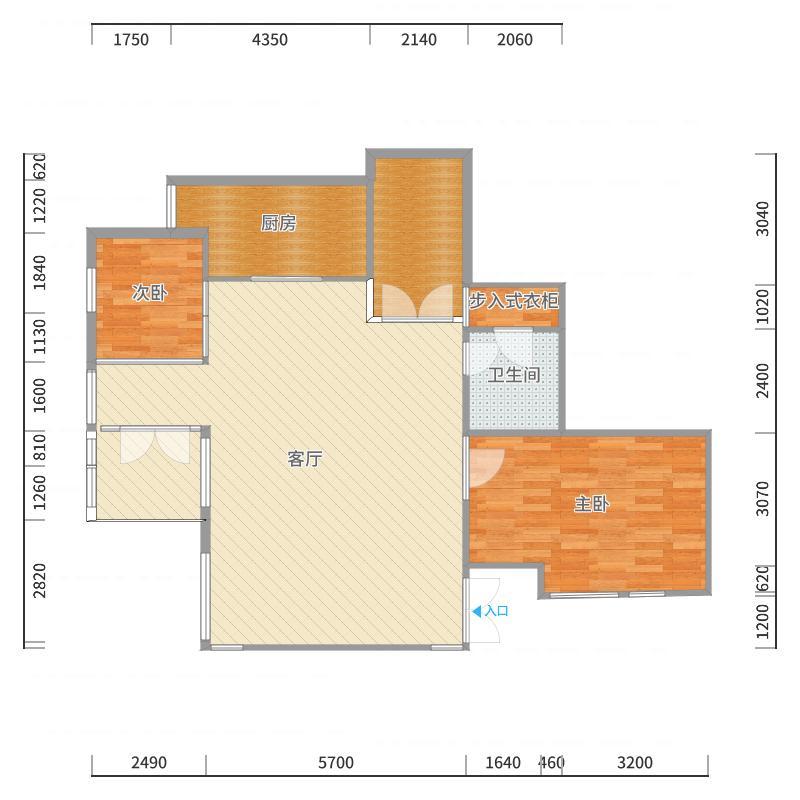 1楼--大厅-B户型图