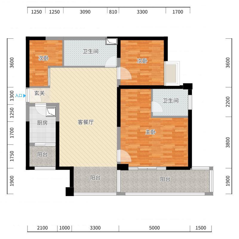 湘江壹号户型图