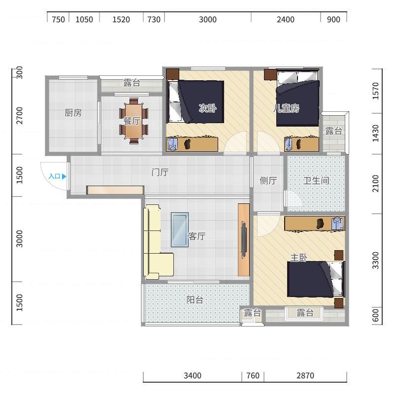 泰宏建业11户型图