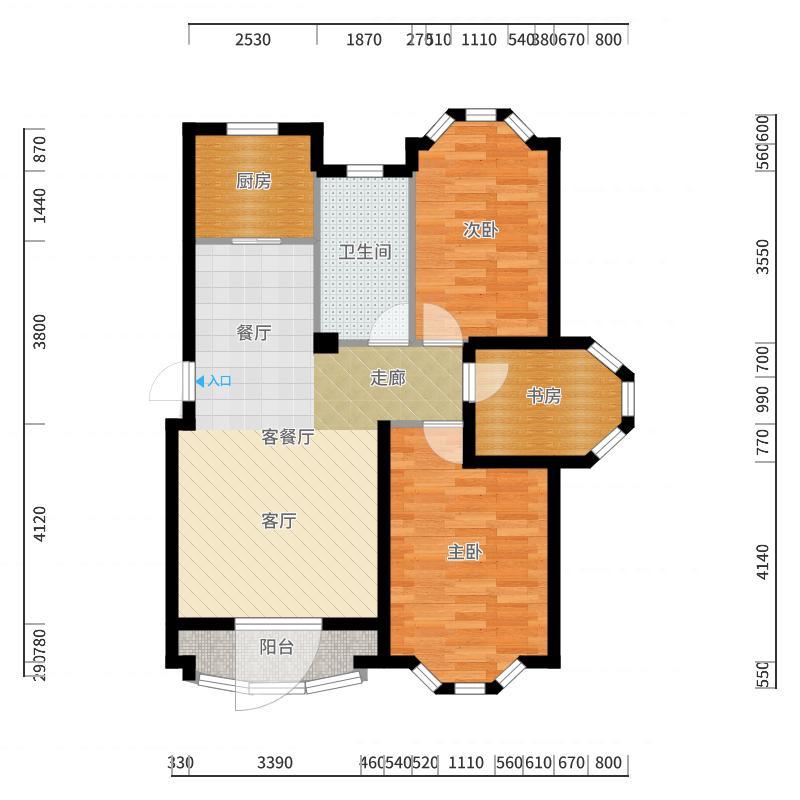 鸿玮澜山二期 和院户型图