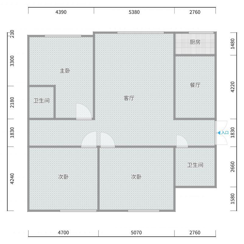 建元2期东院134平108万5楼东户型图