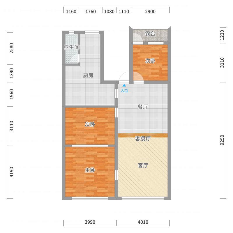 泥南全包房171022户型图