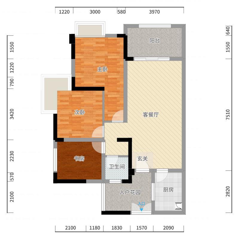 广天颐城户型图