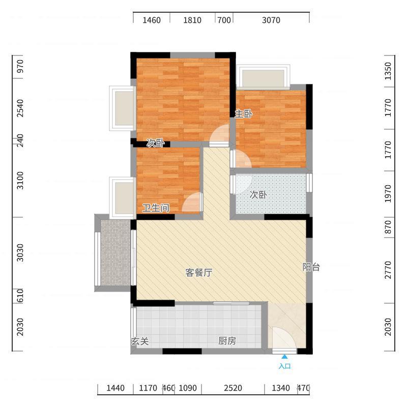 重庆_凰城华府_2017-10-22-1121户型图